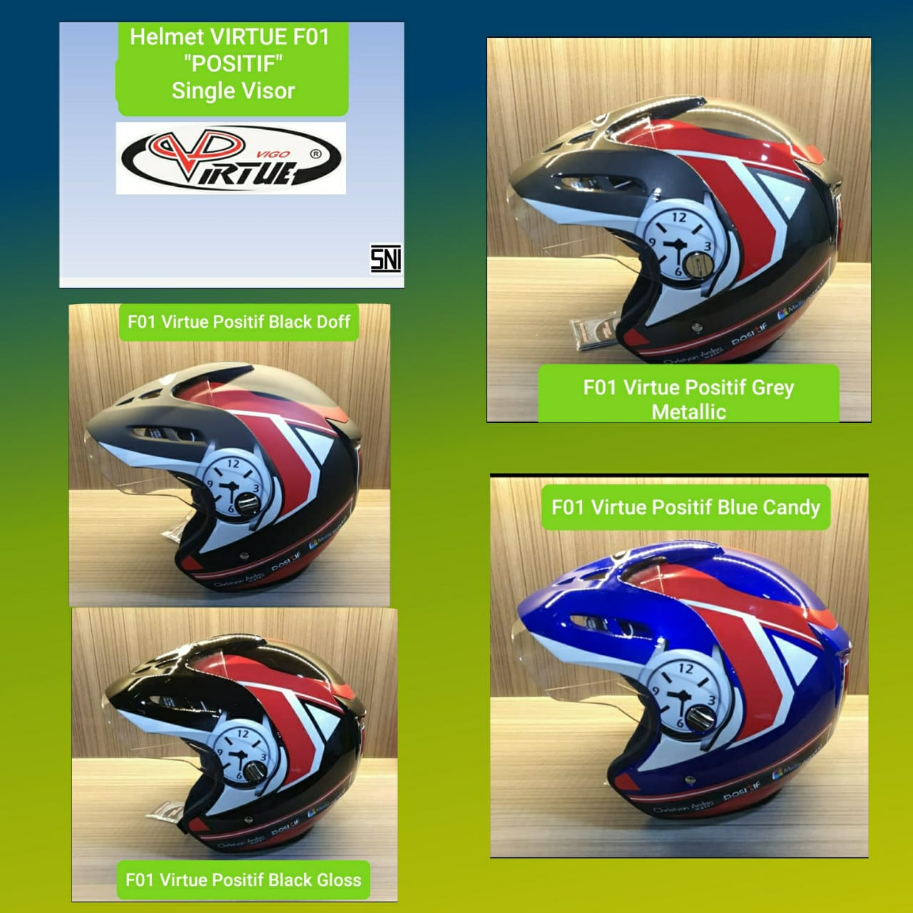 TYPE F01 Virtue Positif Single Visor