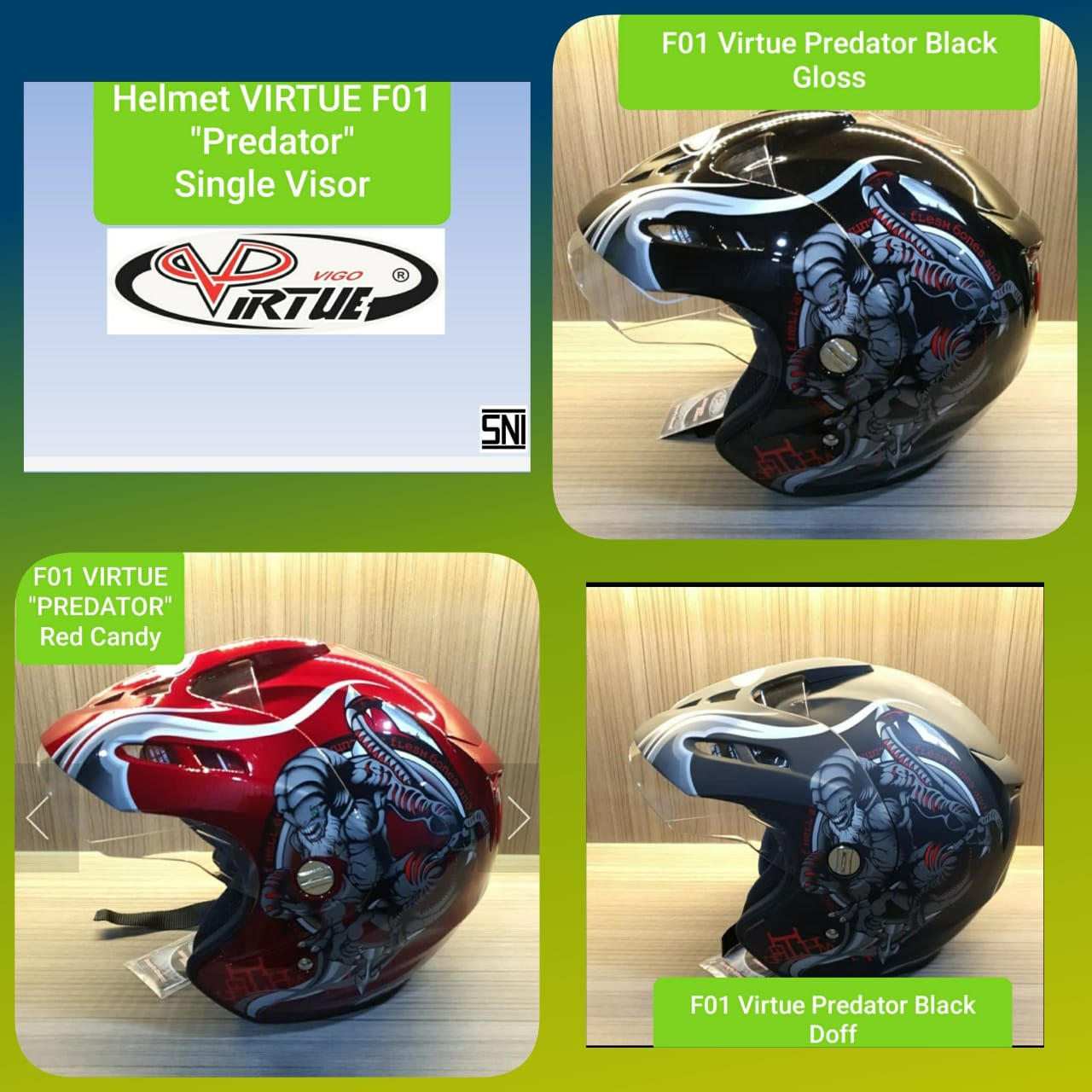 TYPE F01 Virtue Predator Single Visor