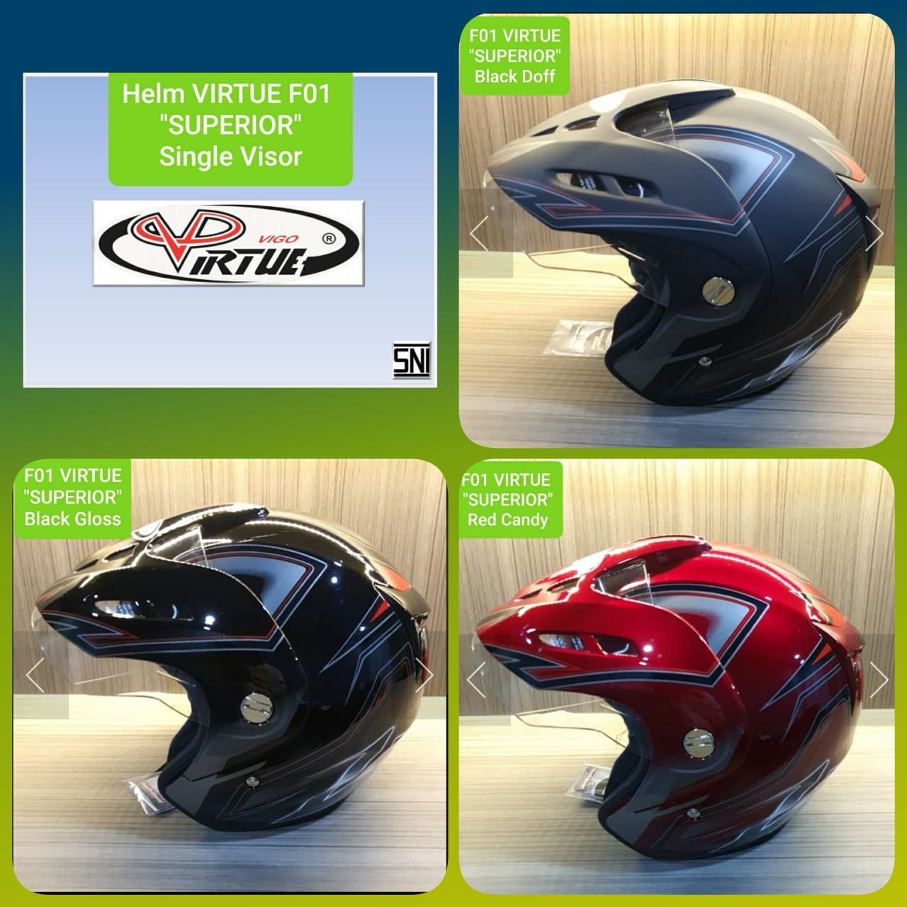 TYPE F01 Virtue Superior Single Visor